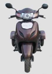 Brown TVS Two Wheeler Side Wheel Attachment For Handicapped Person