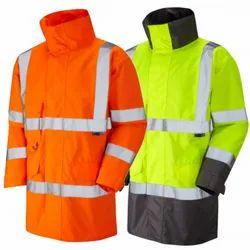 Polyethylene Foam Full Sleeves Reflective Safety Vest, Size: Available In Medium, Large, Gsm: 90-120