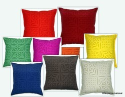Cotton Applique Cushion Cover