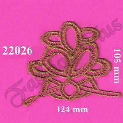 Fancy Designed Gold Zari Patch