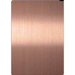 Stainless Steel Rose Gold Hairline Designer Sheet