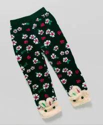 Kidofash Flower Design Fleece Leggings