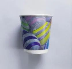 Paper Printed 225 Ml Double Wall Glass