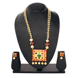 Gold Plated Beads Necklace Set