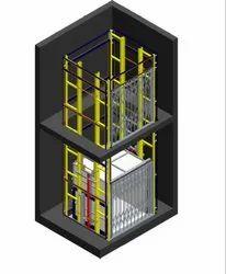 Electro Hydraulic Dual Mast Goods Lift