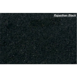 PRINCE MARBLES Rajasthan Black Granite Slab, for Countertops
