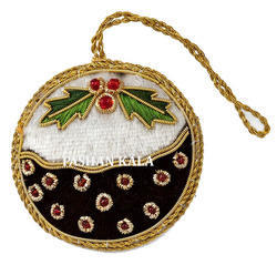 Decorative Zari Christmas Hanging