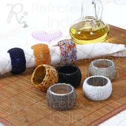 Classic Colorful Beaded Napkin Ring