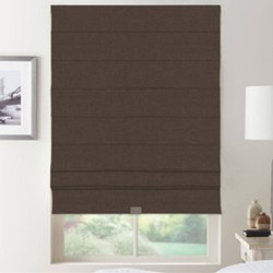 Brown Roman Window Blinds