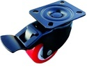 Ustar Single Wheel Caster With Brake, Size: 50mm