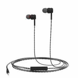 Black Earphone Wired, Packaging Type: Box