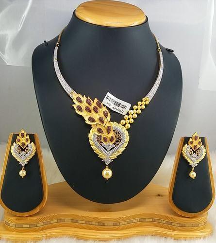 208bd09414e American Diamond Necklace Set - Wedding Necklace Set Manufacturer ...
