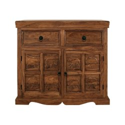 Teak Home Wooden Sideboard, Drawers: 2, Size: Asap