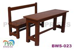 P.V.R.Enterprises, P.V.R.Enterprises Golden Brown, Golden Brown Full Wood Separate Bench