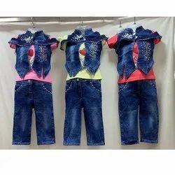 Denim Jeans,T Shirt and Jacket Kids Jeans Wear Dress