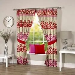 Abstract Floral Multicolor Curtain