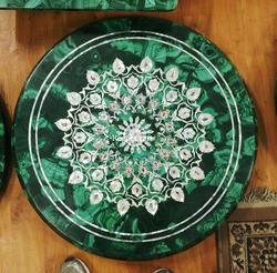 Malachite Inlay Table Top