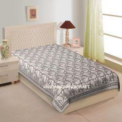 Jaipuri Hand Block Print Bed Cover