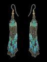 Turquoise Multi Seed Beads Earrings