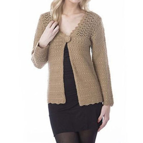 5470c1027177 Richeez Full Sleeve Brown Ladies Knitted Cardigan