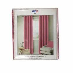Mak Tek Plain Cotton Curtains with Tie Back, Size: 135 X 240cm