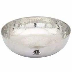 Kesar Kunj Stainless Steel Kadhai- Silver, For Home