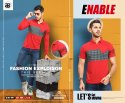 Cotton Printed Enable Mens Collar T Shirt