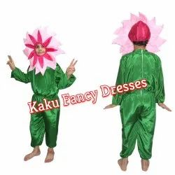 Kids Pink Flower Fancy Dress Costume