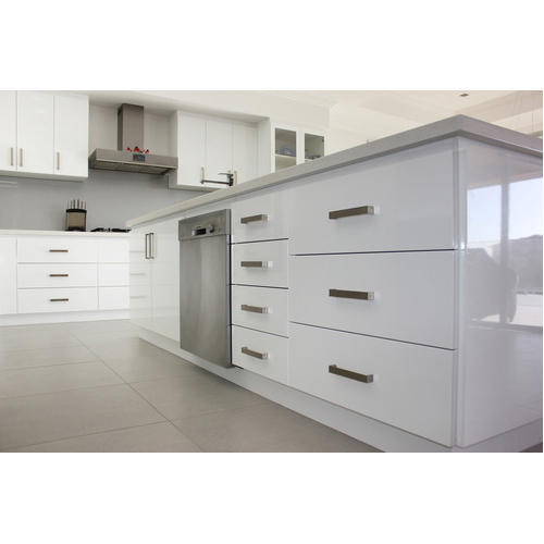 Vinyl Modular Kitchen, Modern Kitchen Cabinets - VS Krishna Kitchen, New Delhi