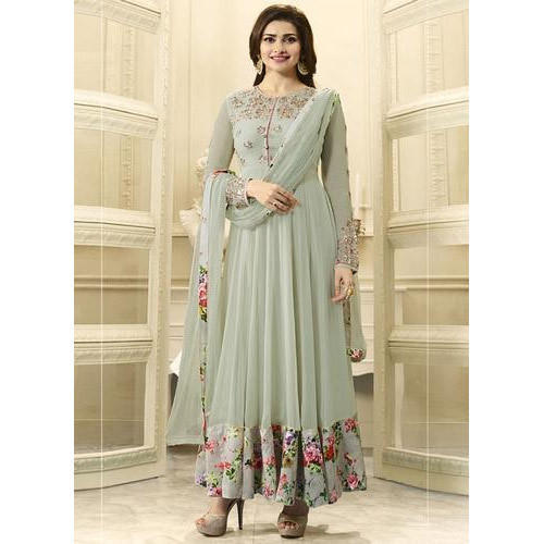 b2857b4dfff Chiffon Embroidered Anarkali Suit