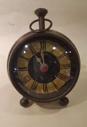 Analog Brass Tale Clock Antique, Size: 6 Inch