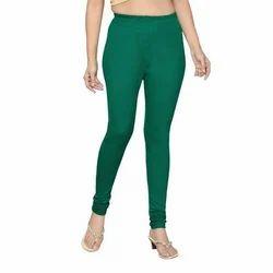 Green Ladies Cotton Leggings, Size: Free Size