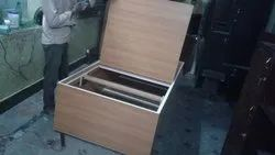 Brown Rectangle Wooden Storage Box