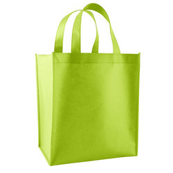 Plain Green Loop Handle Non Woven Bag, Capacity: 5kg