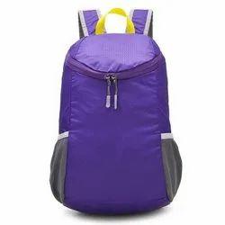 PVC Coated Nylon Purple Plain Promotional Travel Backpack