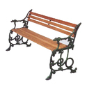 Contemporary Cast Iron Garden Bench