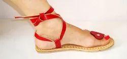 Women Red Slipper, Packaging Type: Poly Bag