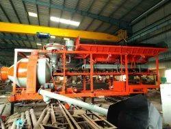 Reverse Drum Mixer Electric Engine Mobile Automatic Concrete Batching Plant