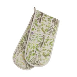 100% Cotton Double Oven Glove Mitts