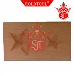 Gold Tool 2 Cavity Star Dapping Block