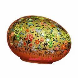 Paper Mache Easter Egg Box - Multi Color Floral Golden Garden