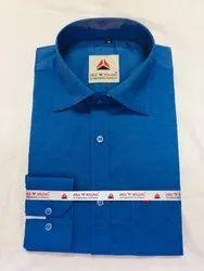 Formal Wear Mens Slim Fit Plain Shirt, Packaging Type: Packet