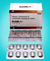 Cefixime 200, Azithromycin 250, Lactic Acid Bacillus Sporogenes Tablets