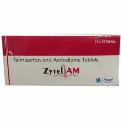 Telmisartan 40MG  And Amlodipine 5MG Tablets, Pack Size: 10 x 10