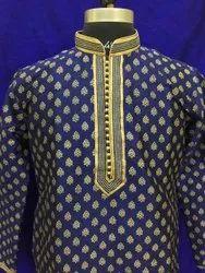 Embroidered KURTA (SILK PRINTED)