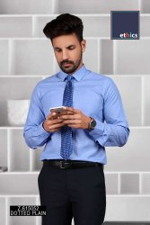 Blue Dotted Uniform Shirts for Industrial Workforce Z-615052
