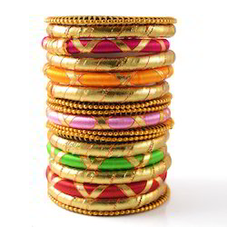 Indian Handcraft Fashion Colorful Wraps Silk Thread Bangles