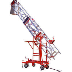 Aluminium Telescopic Tiltable Tower Jeep Trolley Ladder