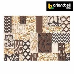 Orientbell Tiles Glossy Orientbell ODH ACCENT MULTI HL Ceramic Wall Tile, Size: 300x450 mm
