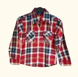 Red Cotton Kids Shirt